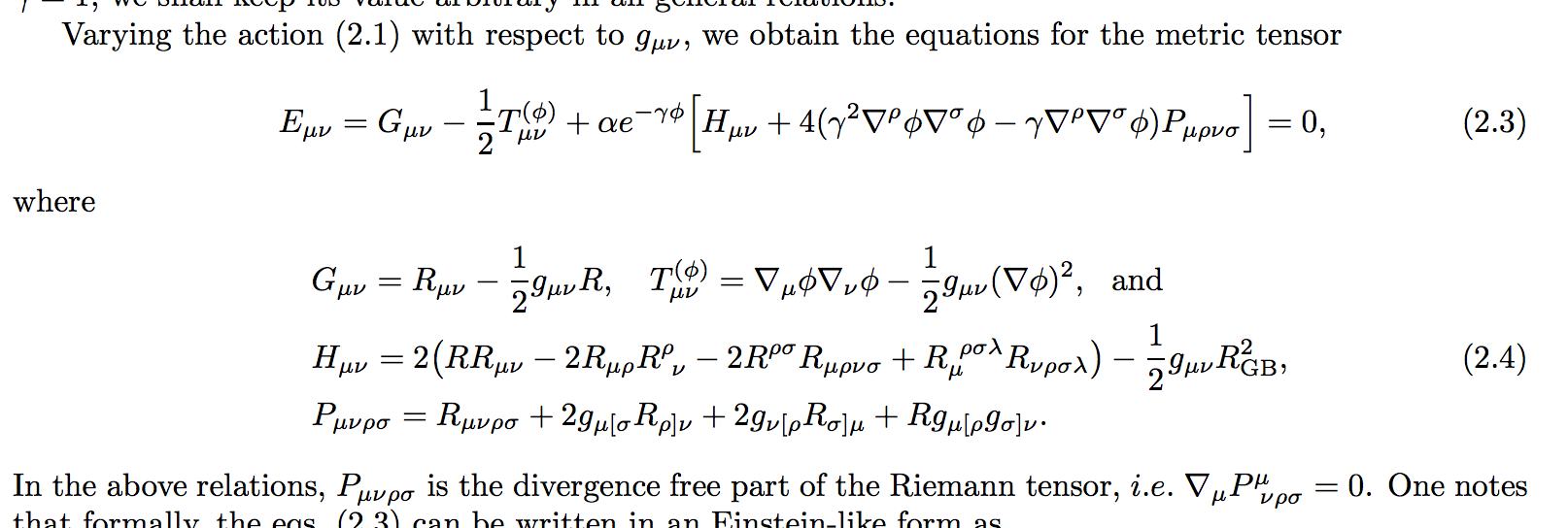 Scary equations for EDGB